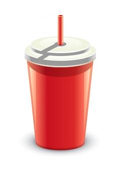 Canette de boisson rouge