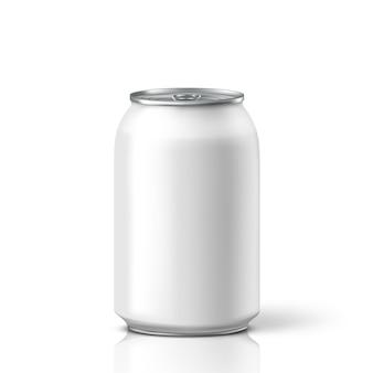 Canette de soda blanche. illustration
