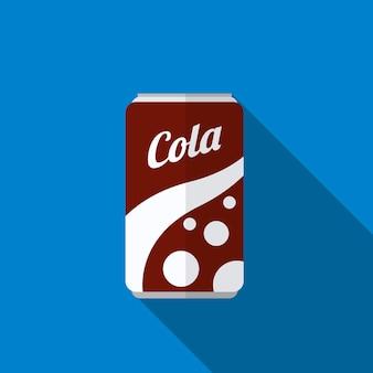 Canette de soda plat icône illustration isolé vecteur signe symbole