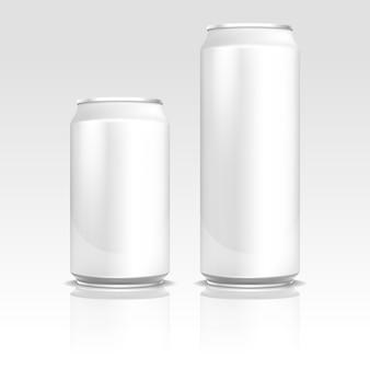 Canettes de bière soda en aluminium