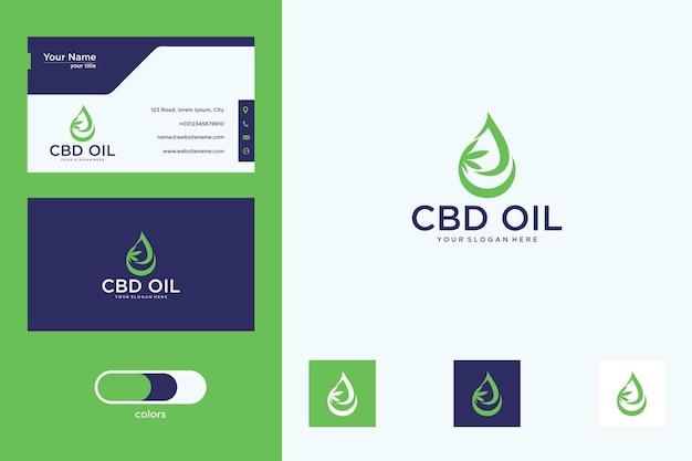 Cannabis avec création de logo d'huile et carte de visite