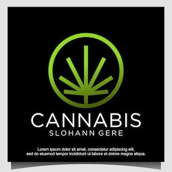 Cannabis ganja pour la création de logo cbd
