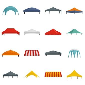 Canopy hangar surplomb ensemble d'icônes