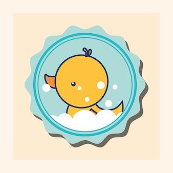 Caoutchouc canard bulles jouet bannière salle de bain