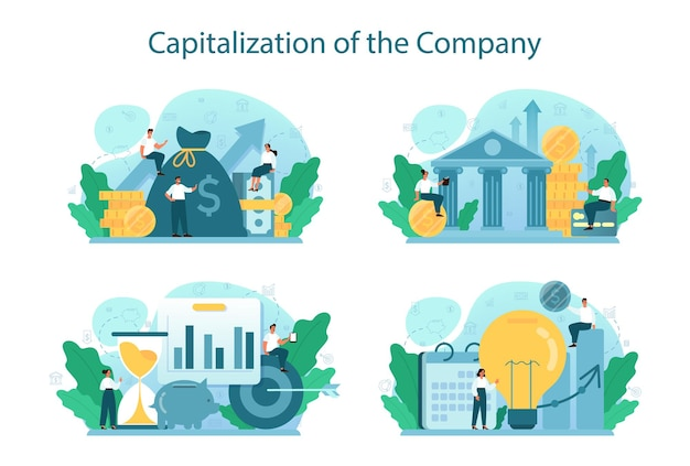 Capitalisation d'un ensemble d'illustrations d'entreprise