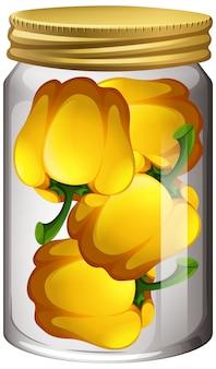 Capsicum dans le bocal en verre