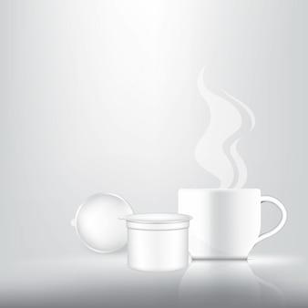 Capsule de café 3d réaliste