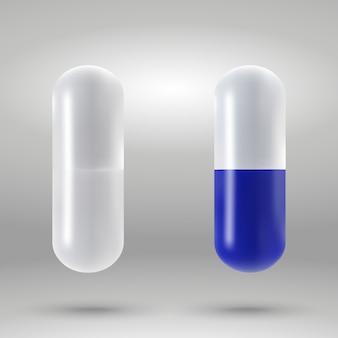 Capsule à capsules isolée.