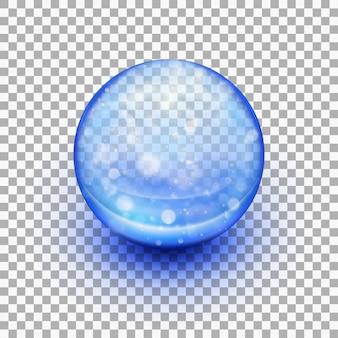 Capsule de gel souple transparente.
