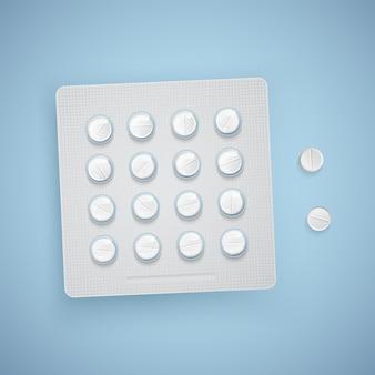 Capsules et pilules dans un nouveau blister, produits médicaux