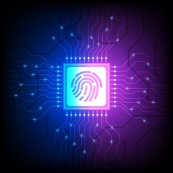 Capteur d'identité d'empreintes digitales, déverrouiller le smartphone, illustration isométrique