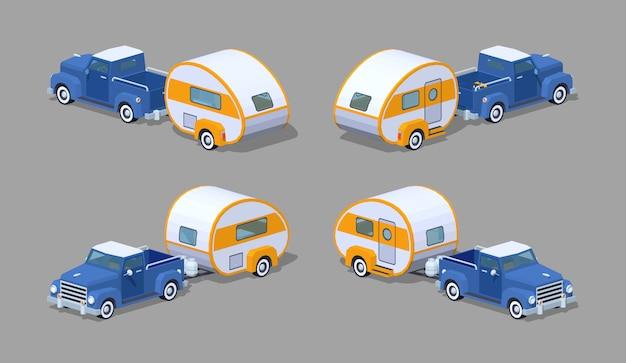 Capteur rétro isométrique 3d avec camping-car