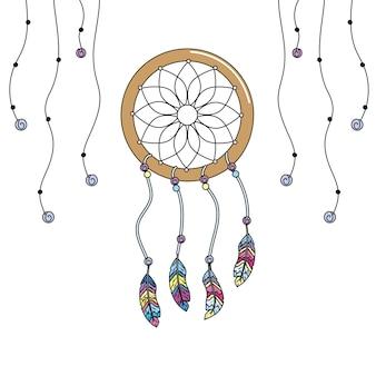 Capteur de rêves de beauté avec des plumes design