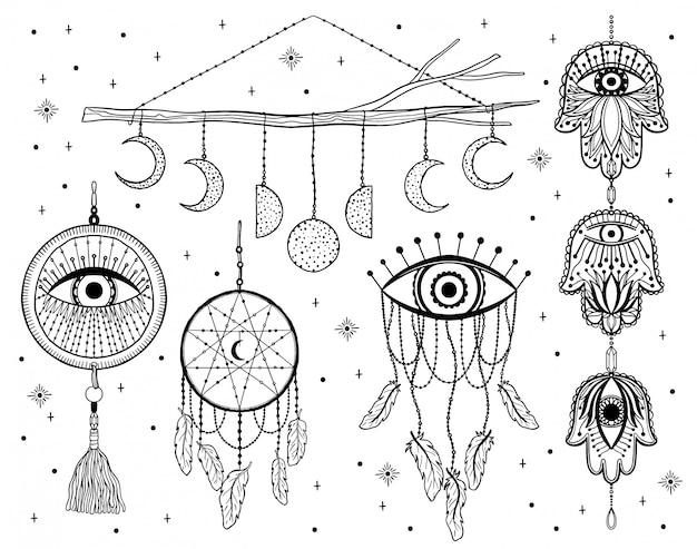 Capteur de rêves mystiques.