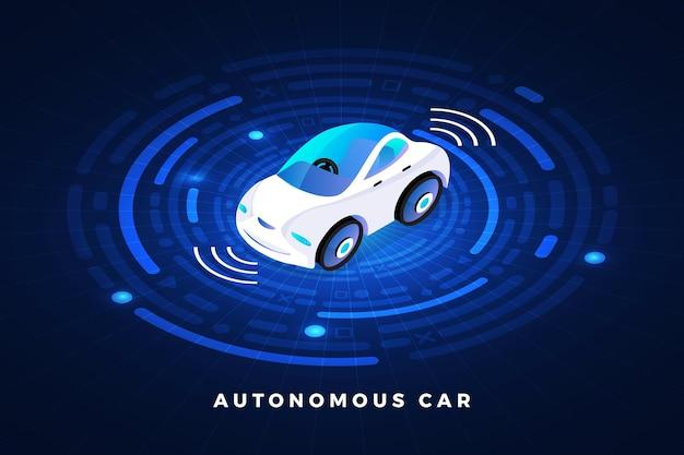 Capteurs automobiles autonomes autonomes technologie de véhicule sans conducteur de voiture intelligente