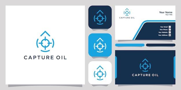 Capturer le symbole d'icône de conception de logo d'huile ou d'eau