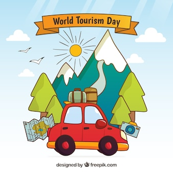 Car prêt pour la journée mondiale du tourisme