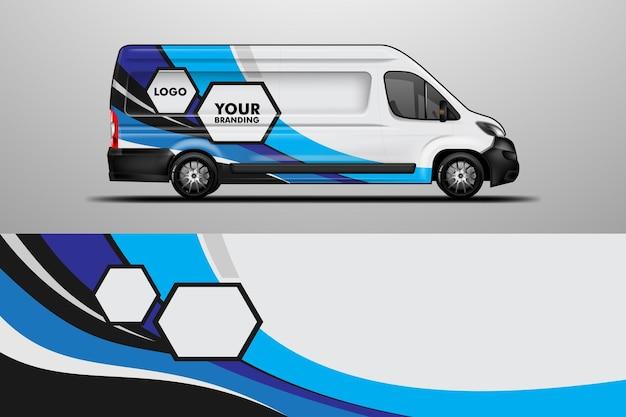 Car wrap company design vecteur van branding sticker fond