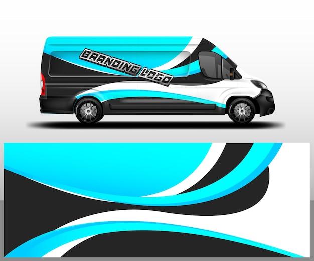Car wrap company design vecteur van livrée