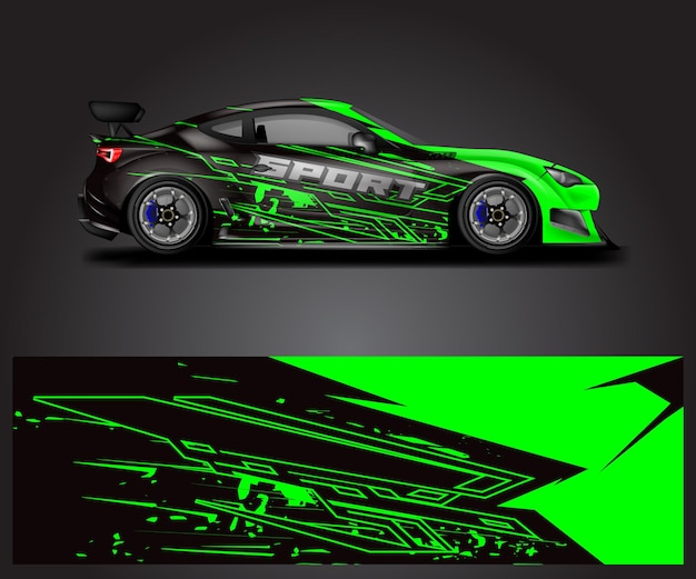Car wrap designs vector stripe racing background