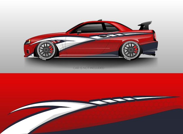 Car wrap designs vectoriels