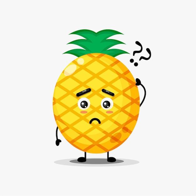 Caractère d'ananas mignon confus