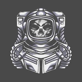 Caractère astronaute crâne