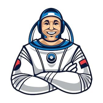 Caractère Astronaute Vecteur Premium