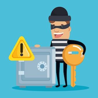 Caractère d'avatar d'identité de vol