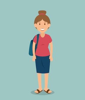 Caractère d'avatar touristique femme