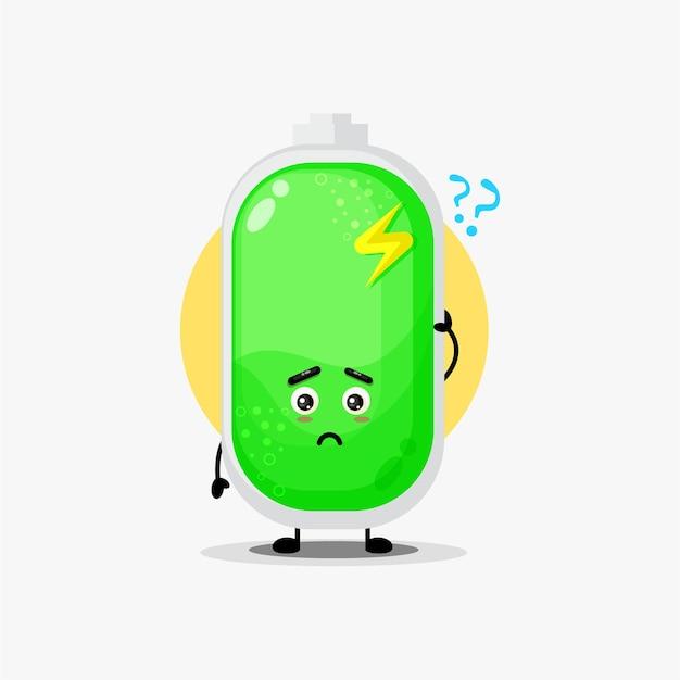 Caractère de batterie mignon confus
