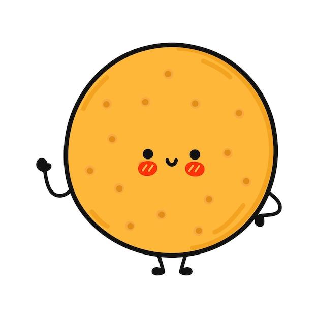 Caractère de biscuits drôles mignons