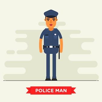 Caractère de bureau de police plat