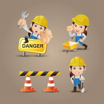 Caractère de constructeur avec différentes poses