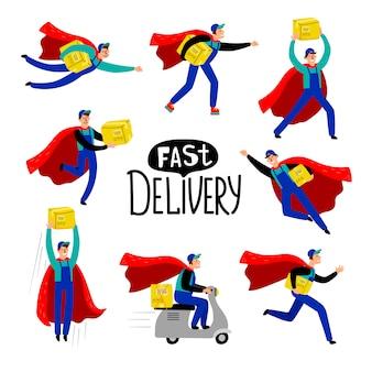Caractère de courrier de livraison