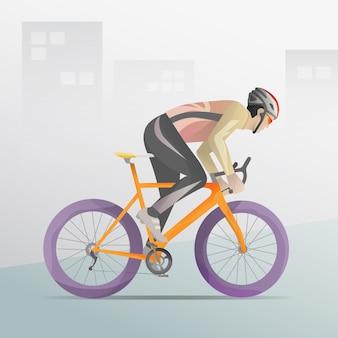 Caractère de course cycliste cyclistes