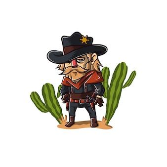 Caractère de cow-boy shérif