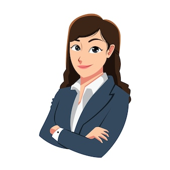 Caractère de femme d'affaires