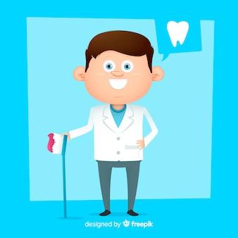 Caractère dentaire plat