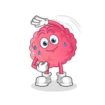 Caractère d'étirement du cerveau.