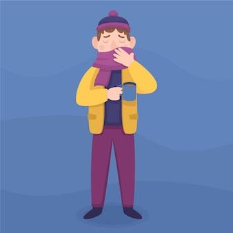Caractère de garçon ayant un extérieur froid