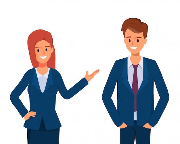 Caractère des gens d'affaires. collègue en compagnie. travail d'entreprise de travail d'équipe.