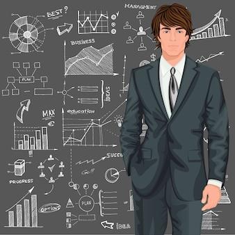 Caractère d'homme d'affaires