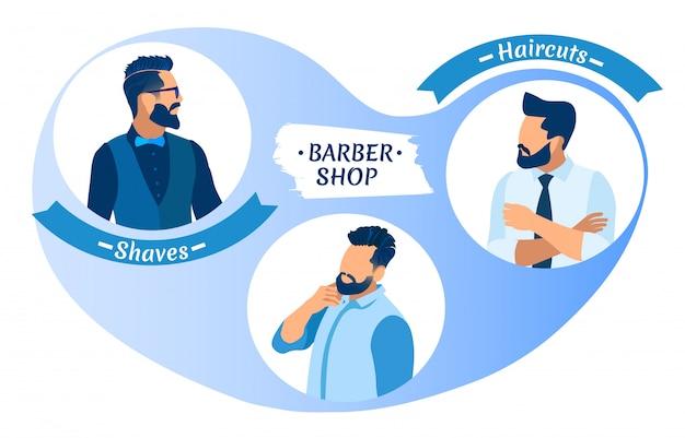 Caractère de jeunes hommes hipster de coiffure différente