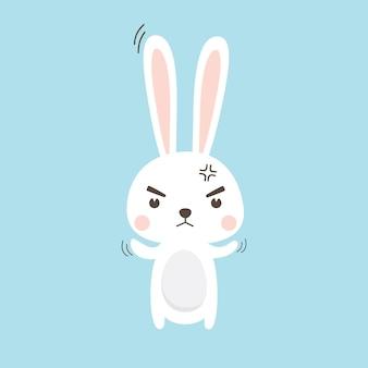 Caractère de lapin illustration vectorielle pour carte d'invitation de pâques
