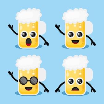 Caractère de logo de bière