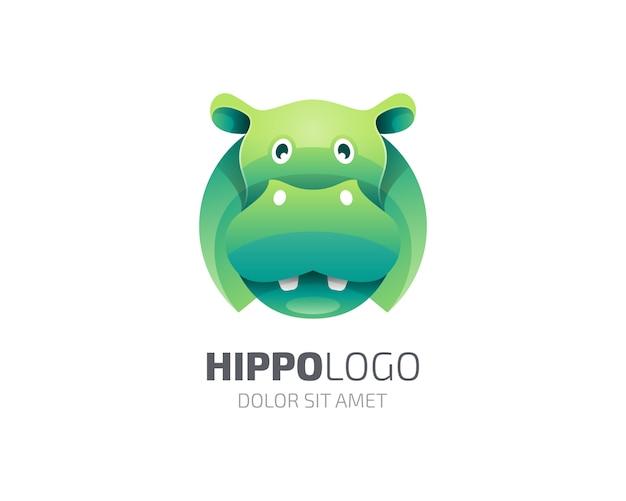 Caractère de logo hippopotame