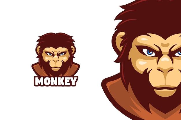 Caractère de logo de mascotte de grand singe