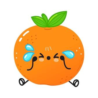 Caractère mandarin triste et pleurant mignon