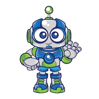 Caractère de mascotte de robot
